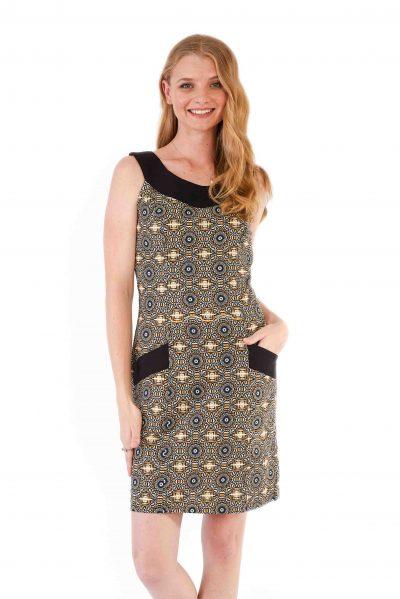 womens Koffie Dress - Aztec Mustard