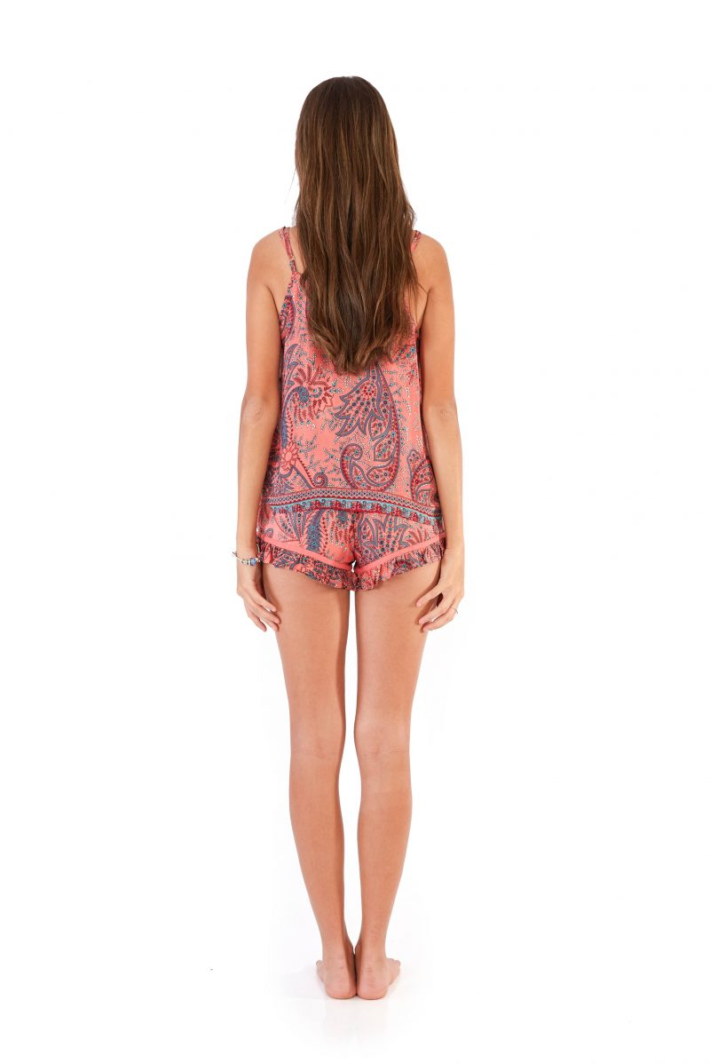 womens PJ Set - Pink back