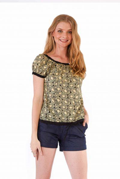womens Mishal Top - Chrysanthemum
