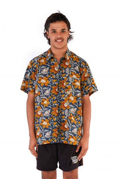 Men's Shirt - Mustard Flowers front