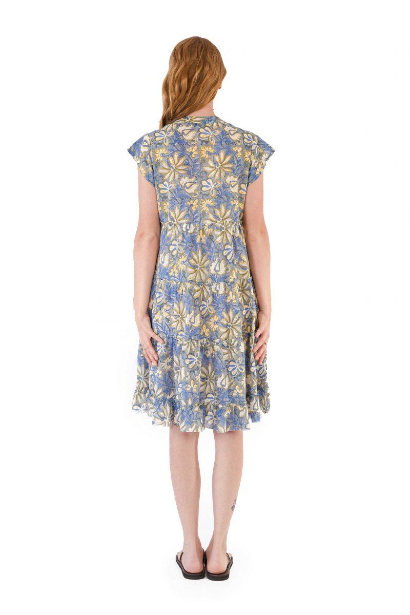 womens Amore Dress - Swedish Flowers back