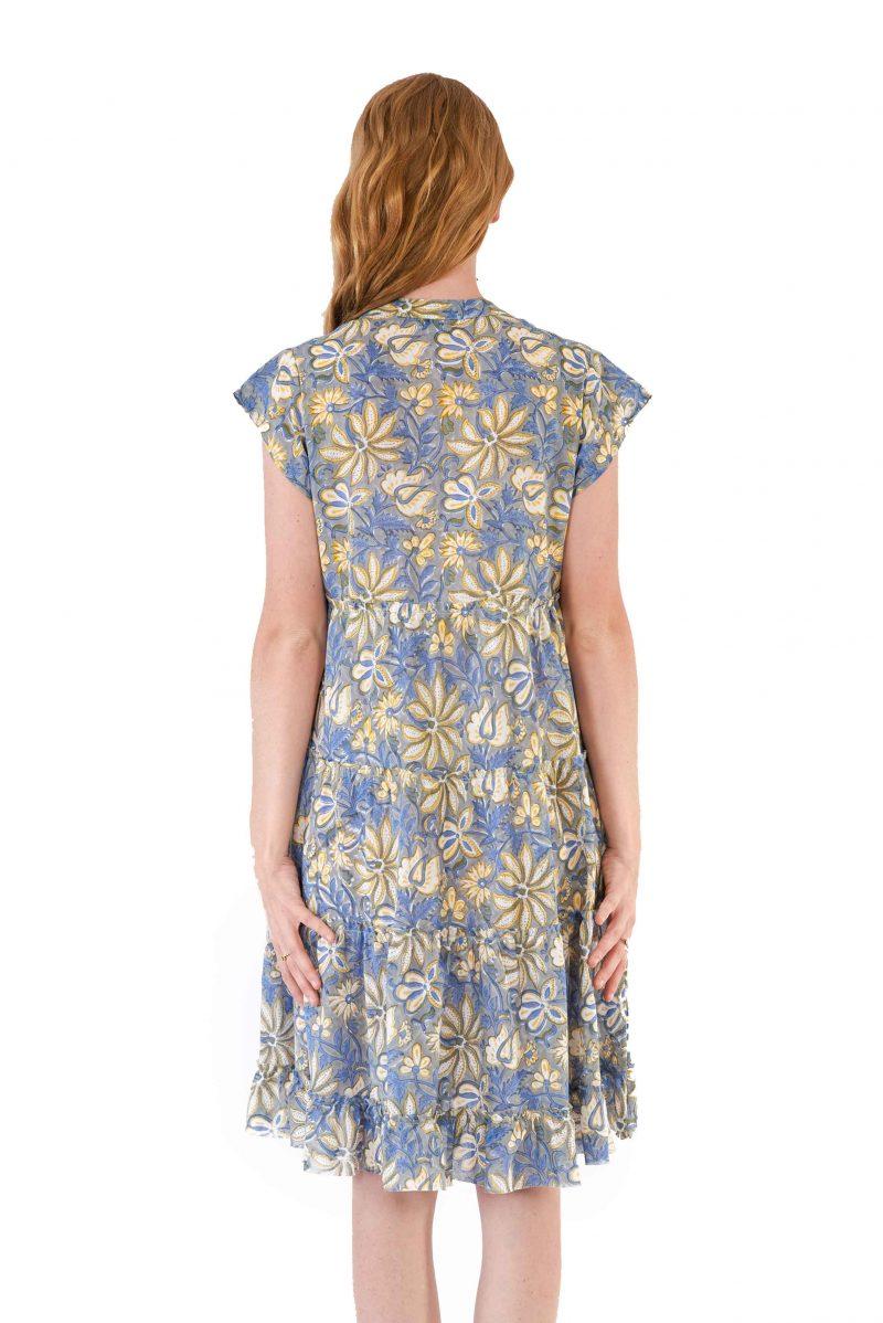 womens Amore Dress - Swedish Flowers back close