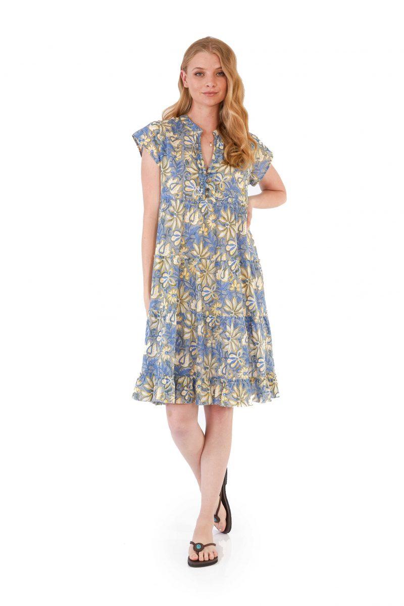 womens Amore Dress - Swedish Flowers front