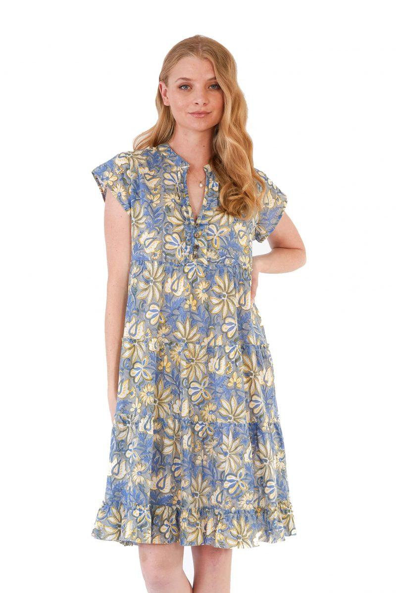 womens Amore Dress - Swedish Flowers