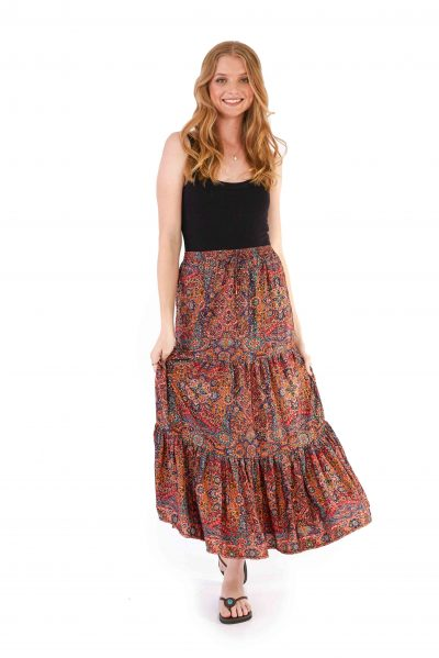 Womens Isabella Skirt - Red Gold front