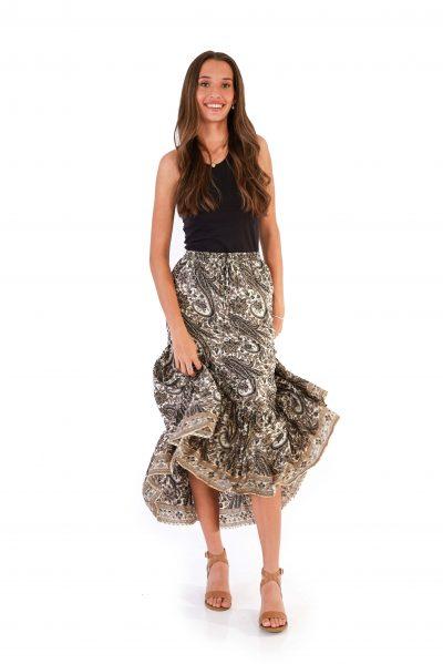 Womens Isabella Skirt - Platinum Gold front