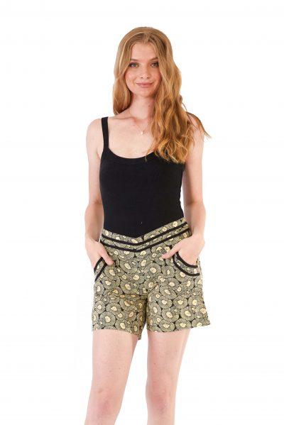 womens Devi Shorts - Chrysanthemum