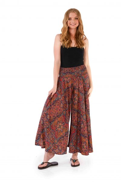 Womens Meera Pants - Red Gold front