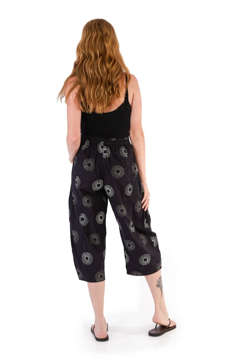 womens Hendrix Pants - Black Sunflower back