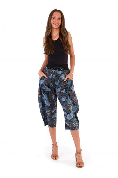 womens Yoga Pants - Lotus Black