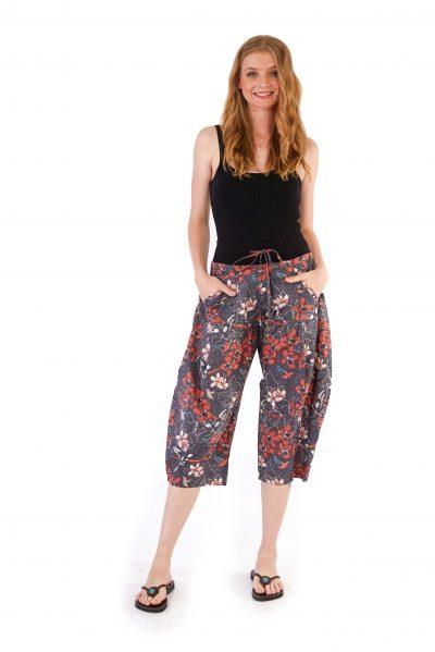 womens Yoga Pants - Morning Bloom Ink