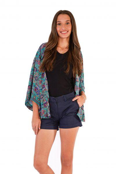 Womens Kimono Jacket - Green